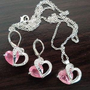 Jewelry - ROSE QUARTZ SET ~ STERLING SILVER